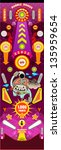 pinball game  pinball table ... | Shutterstock .eps vector #135959654