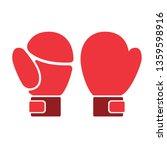 boxing gloves flat illustration ... | Shutterstock . vector #1359598916