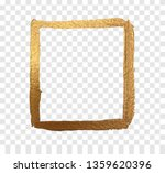 gold frame paint brush vector... | Shutterstock .eps vector #1359620396