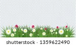 daisies and tulips in green... | Shutterstock .eps vector #1359622490