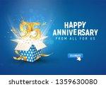 95 th years anniversary banner... | Shutterstock .eps vector #1359630080