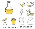 set of school equipment doodle... | Shutterstock .eps vector #1359632090