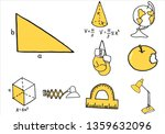 set of school equipment doodle... | Shutterstock .eps vector #1359632096