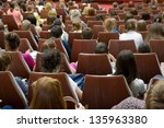 audience at the conference hall | Shutterstock . vector #135963380