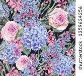 watercolor vintage floral... | Shutterstock . vector #1359634256
