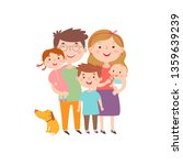 vector illustration with happy... | Shutterstock .eps vector #1359639239