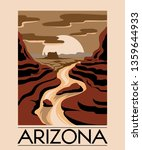 Arizona. Vector Hand Drawn...