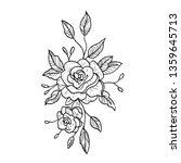 rose vector illustration.... | Shutterstock .eps vector #1359645713