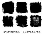 vector set of big hand drawn... | Shutterstock .eps vector #1359653756