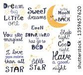 vector set of night lettering...   Shutterstock .eps vector #1359657620