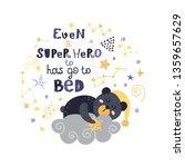 poster with teddy bear  stars...   Shutterstock .eps vector #1359657629