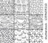 coffee cups  beans  mugs ... | Shutterstock .eps vector #1359659210