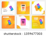 six set modern wave fluid...   Shutterstock .eps vector #1359677303