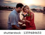 couple in love sharing emotions ... | Shutterstock . vector #1359684653