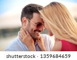 portrait of young couple in... | Shutterstock . vector #1359684659