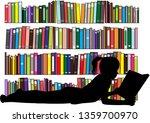 children reading the book.   Shutterstock .eps vector #1359700970