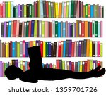 children reading the book. | Shutterstock .eps vector #1359701726