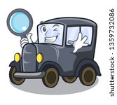 detective old car isolated in...   Shutterstock .eps vector #1359732086