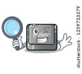 detective cartoon delete button ...   Shutterstock .eps vector #1359733379