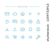 uiux icon set in line style for ...