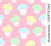 vector seamless pattern with... | Shutterstock .eps vector #1359737363