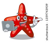 with laptop red starfish... | Shutterstock .eps vector #1359743939
