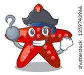 pirate red starfish isolated... | Shutterstock .eps vector #1359743966