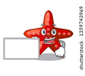 with board red starfish... | Shutterstock .eps vector #1359743969