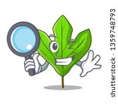 detective sassafras leaf in the ...   Shutterstock .eps vector #1359748793