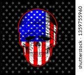 skull bandana with flag   vector | Shutterstock .eps vector #1359755960
