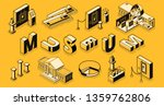 museum or art gallery isometric ...   Shutterstock .eps vector #1359762806