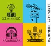 karaoke retro style | Shutterstock .eps vector #1359765959