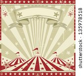 square vintage red circus. a... | Shutterstock .eps vector #135978518