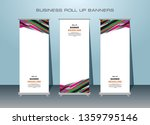 3 set of roll up banner design. ... | Shutterstock .eps vector #1359795146