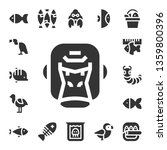 fauna icon set. 17 filled fauna ... | Shutterstock .eps vector #1359800396