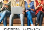 diverse people using digital... | Shutterstock . vector #1359801749