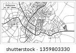 gaborone botswana city map in...   Shutterstock . vector #1359803330