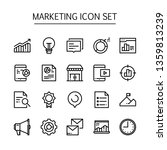 marketing icon set vector line... | Shutterstock .eps vector #1359813239