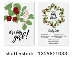 baby shower invitation set with ... | Shutterstock .eps vector #1359821033
