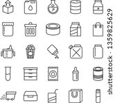 thin line vector icon set  ... | Shutterstock .eps vector #1359825629
