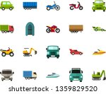 color flat icon set   passenger ... | Shutterstock .eps vector #1359829520
