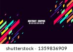 abstract geometric colorful... | Shutterstock .eps vector #1359836909