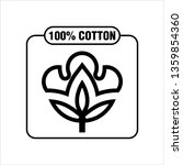 one hundred percent cotton icon ... | Shutterstock .eps vector #1359854360
