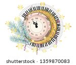 Vintage Style Clock With...