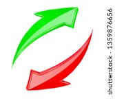 red and green 3d arrows. up ad... | Shutterstock . vector #1359876656
