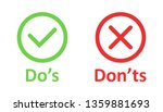 do's and don'ts sign icon in...   Shutterstock .eps vector #1359881693