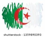 flag of algeria  people's... | Shutterstock .eps vector #1359890393