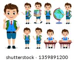 school kids student vector... | Shutterstock .eps vector #1359891200