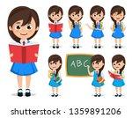 school girl student vector...   Shutterstock .eps vector #1359891206