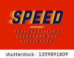 speed style font  alphabet... | Shutterstock .eps vector #1359891809